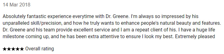 Realself Review for Dr. Ryan Greene