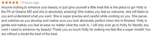 Google Review  Holly