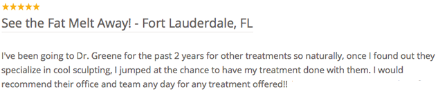 Coolsculpting Review Weston, Florida