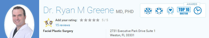 Vitals Reviews for Dr. Ryan Greene