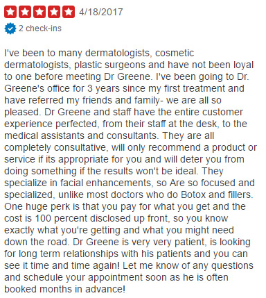 Yelp Review Dr Ryan Greene Weston